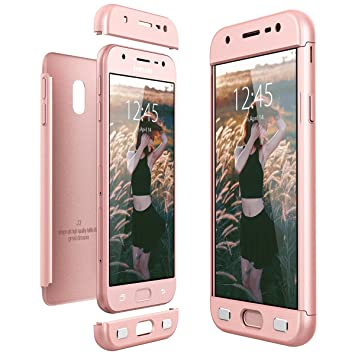 CE-Link Funda Samsung Galaxy J3 2017, Carcasa Fundas para Samsung Galaxy J3 2017, 3 en 1 Desmontable Ultra-Delgado Anti-Arañazos Case Protectora - Oro ...