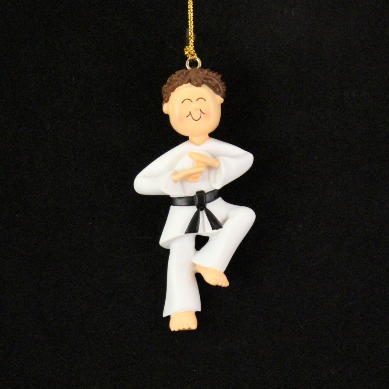 Karate ornament - Amazon Com Ornament Central Oc 024 Mbr Male Karate Christmas Ornament 3 1 2 Inch Brown Home Kitchen