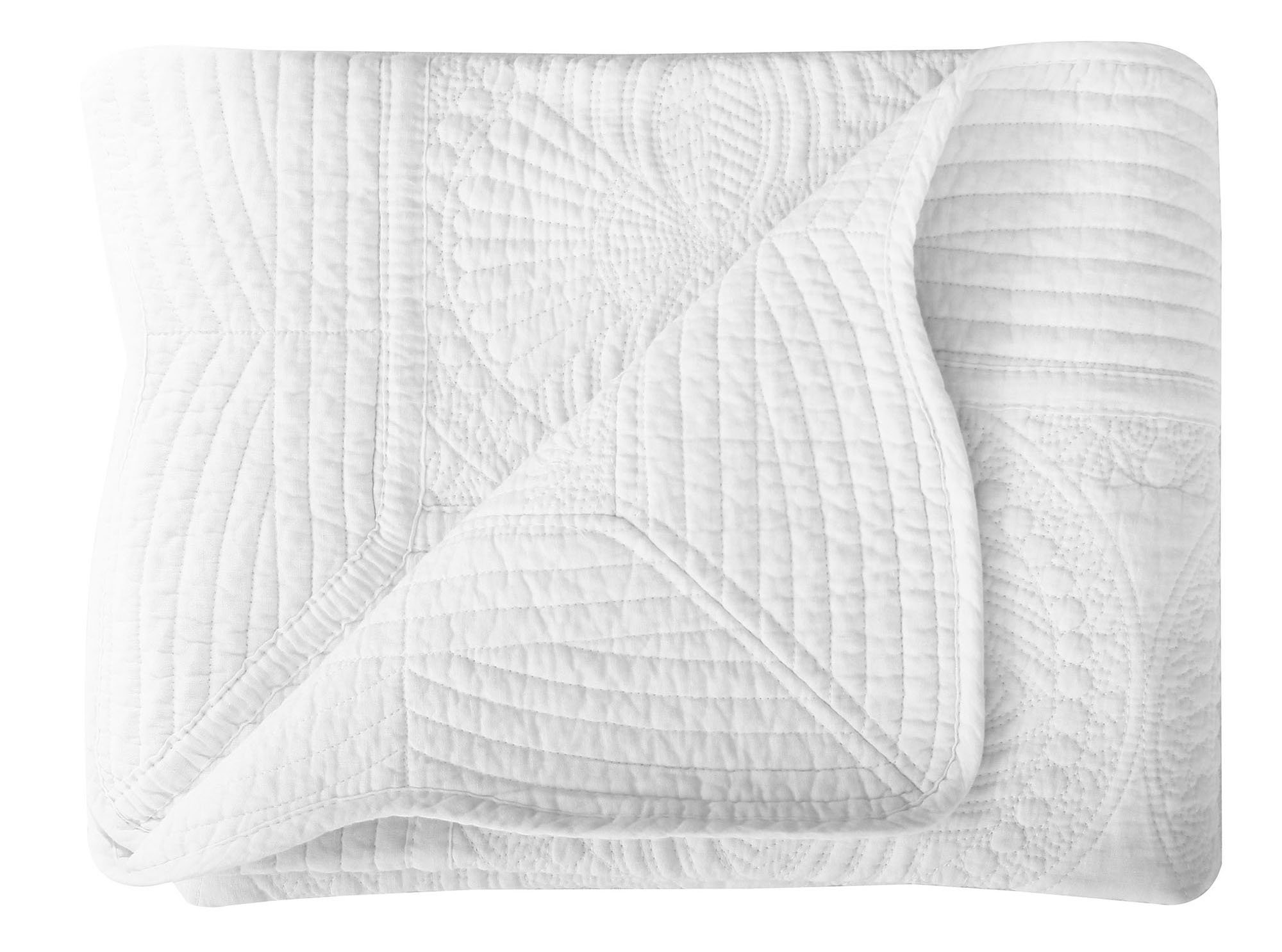 Lullaby Infant Blankets All Weather Lightweight Embossed Baby Quilt, White by Lullaby