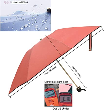 Beautiful Butterfly Stones Folding Rain Umbrella Parasol Windproof Travel Sun Umbrella Compact