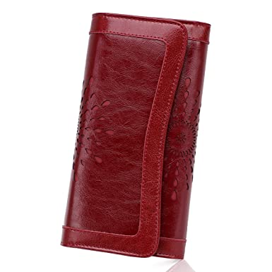a994a8caa90d Amazon.com: APHISON Women's Soft Leather Wallet Credit Card Holder ...