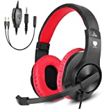 Amazon Price History for:Greatever Stereo Gaming Headset for PS4 Xbox One, Professional 3.5mm Bass Over-Ear Headphones with Mic,Volume Control for Laptop, PC, Mac, iPad, Computer, Smartphones, Red