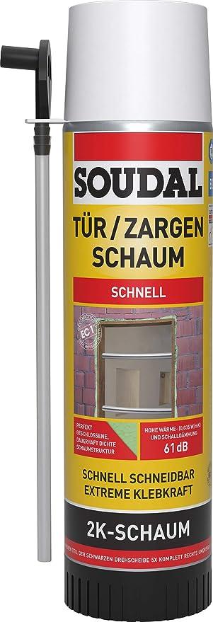 Soudal 2 K zargen Espuma, zweikomponentiger, selbstexpandierender rápido Espuma de poliuretano, lata: