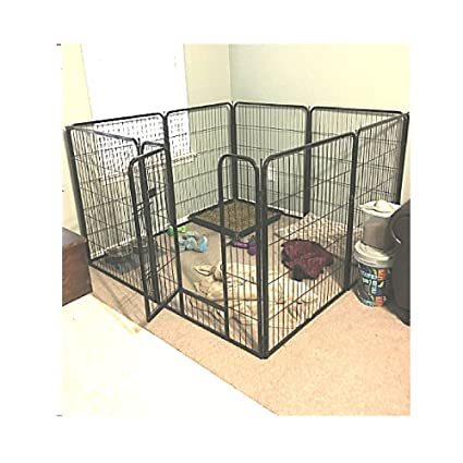 ab2d50fe850 Amazon.com   Extra Large Exercise Pen Heavy Duty 40-inch Door Big Dog Black  Large Pet 8 Panels Kennel Playpen   eBook OISTRIA   Pet Supplies