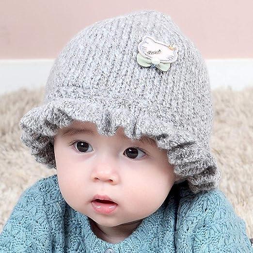 Myzixuan Sombrero Hecho Punto bebé bebé Sombrero Gorro niño ...