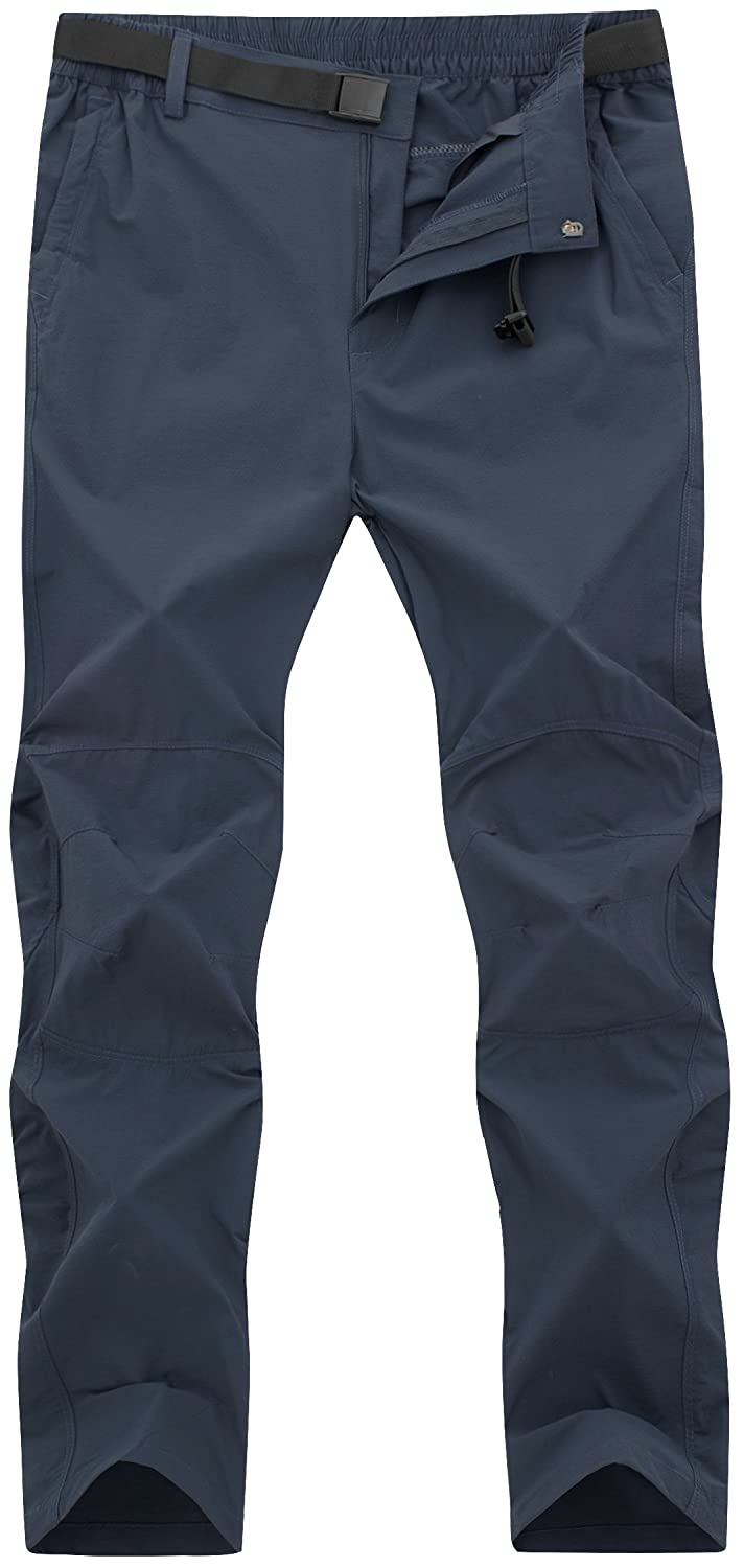 DAFENGEA Mens Hiking Pants Summer Outdoor Lightweight Quick Dry Breathable Climbing Mountian Pants