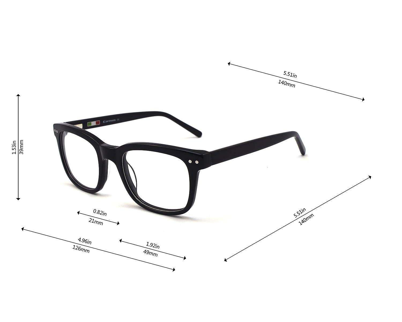 c4b1fdedb6ff Amazon.com: Retro square shape prescription available Eyeglasses: Clothing