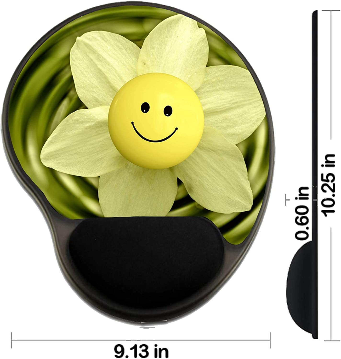 Design for Flower Yellow White Spring Background Isolated Nature Plant Beauty Bloom Na MSD Mousepad Wrist Rest Protected Mouse Pads//Mat with Wrist Support
