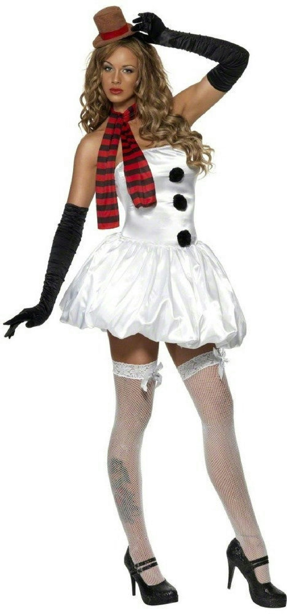 Sexy Snowman Adult Costume Size Large