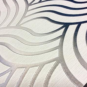 Muriva Tapete Art Deco 701373 Precious Seide Silber Grau Metallic ...