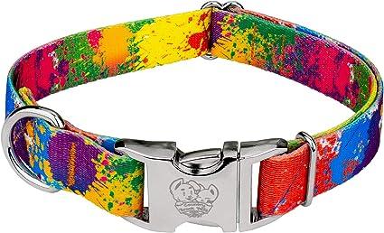Country Brook Design® Tie Dye Flowers Ribbon Dog Leash