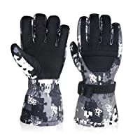 -30°F Winter Gloves, Super Warm Snow Ski Glove with Zipper Pocket - Anti-skid PU Palm Windproof Water Resistant Back Waterproof TPU Inner - Outdoor Cycling Snowmobile for Women Men