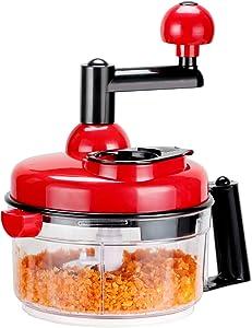 KEOUKE Onion Chopper Food Chopper- Hand Crank Food Processor Chops chili, Vegetable, Nuts, Fruits, Salad with a Egg Separator