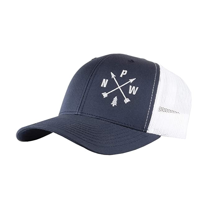 8bc3c47cca4 Image Unavailable. Image not available for. Color  Pacific Northwest Arrows Trucker  Hat Blue White