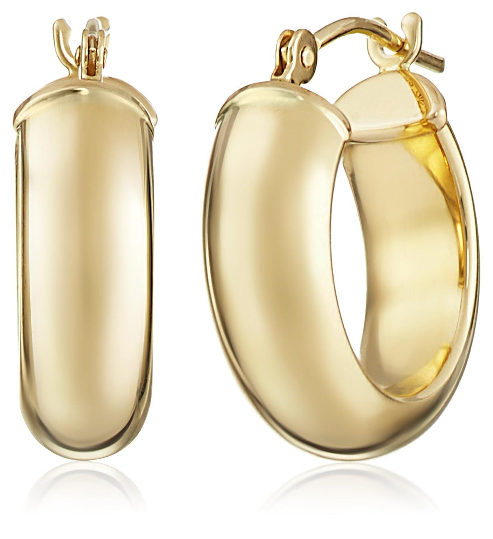 9979a28d1 Amazon.com: 14k Yellow Duragold Hoop Earrings: Jewelry