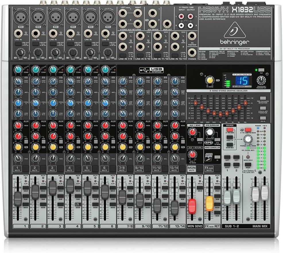 Behringer X1832USB - X1832 usb mezclador para directo x-1832 usb ...
