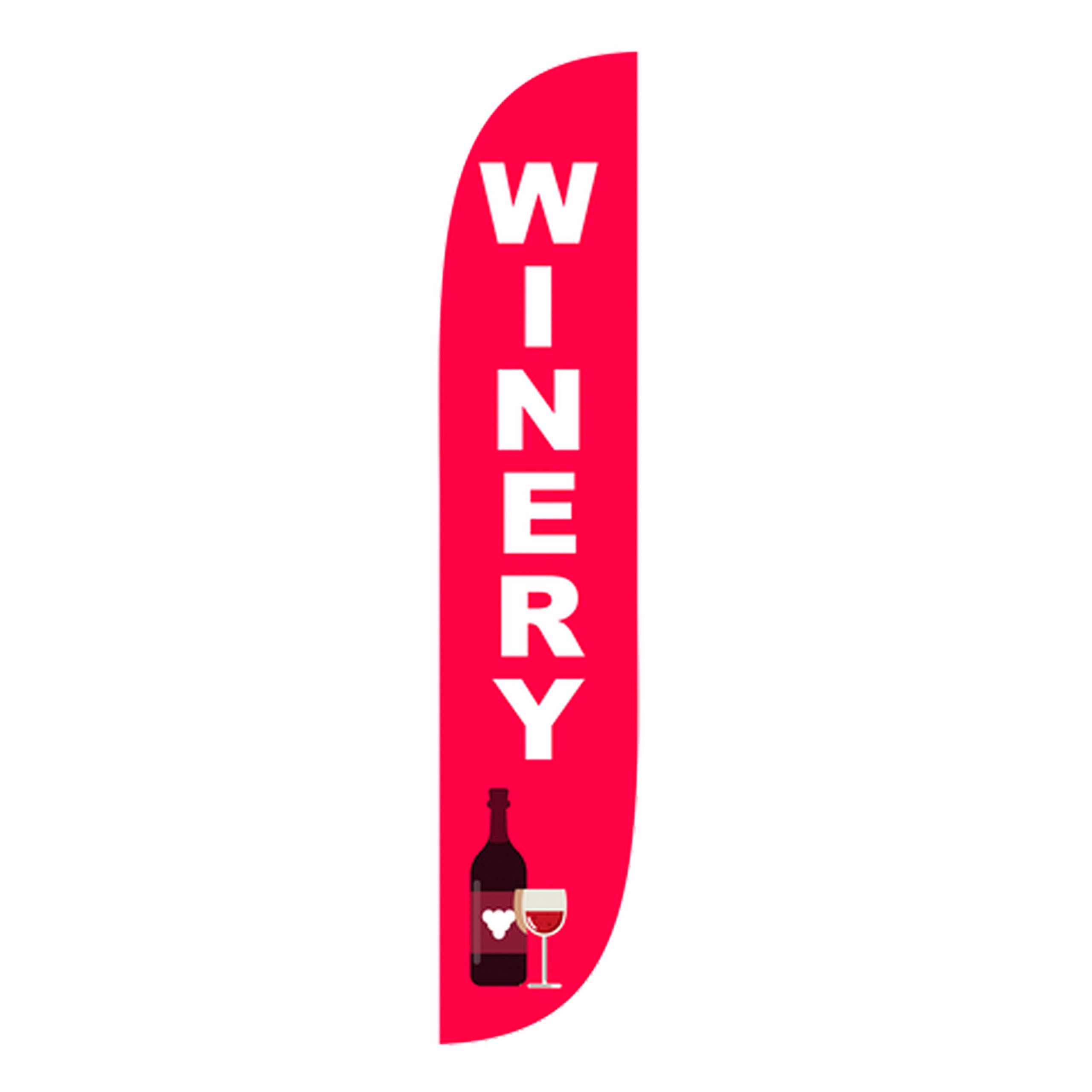 LookOurWay Winery Feather Flag, 12-Feet