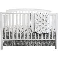 Baby Boy Crib Bedding White Grey Arrow Antlers Deer Head Minky Blanket Navy Crib Sheet Deer Buck Crib Rail Bedding Set