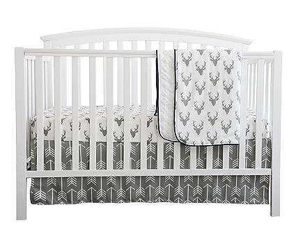 baby boy crib bedding white grey woodland arrow antlers deer head minky blanket navy crib sheet - Baby Boy Crib Bedding