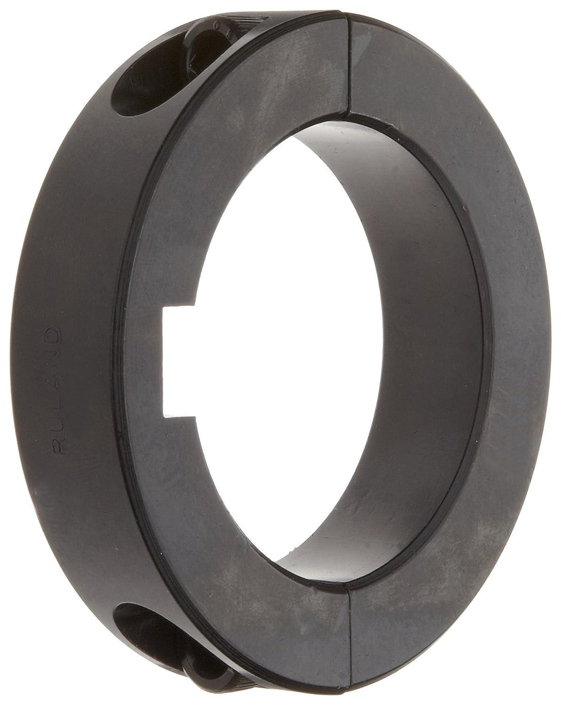 9//16 Width 1.500 Bore 3//8 Keyway Width 2 3//8 OD Ruland SPK-24-F Two-Piece Clamping Shaft Collar with Keyway Black Oxide Steel