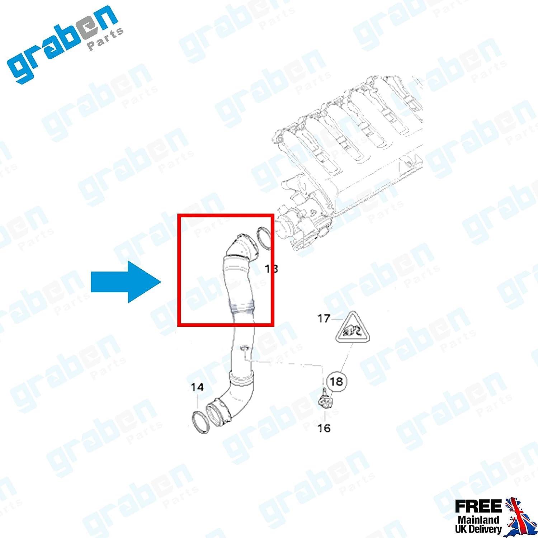 11618506078 BMW 325d//330d//330xd//335d E90//E91//E92 Turbo Intercooler Manguera