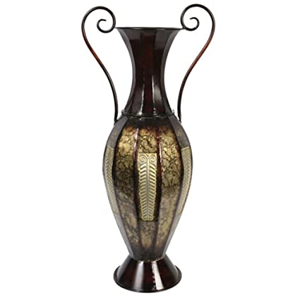 Amazon Hosley 26 High Tall 2 Tone Metal Vase With Handles