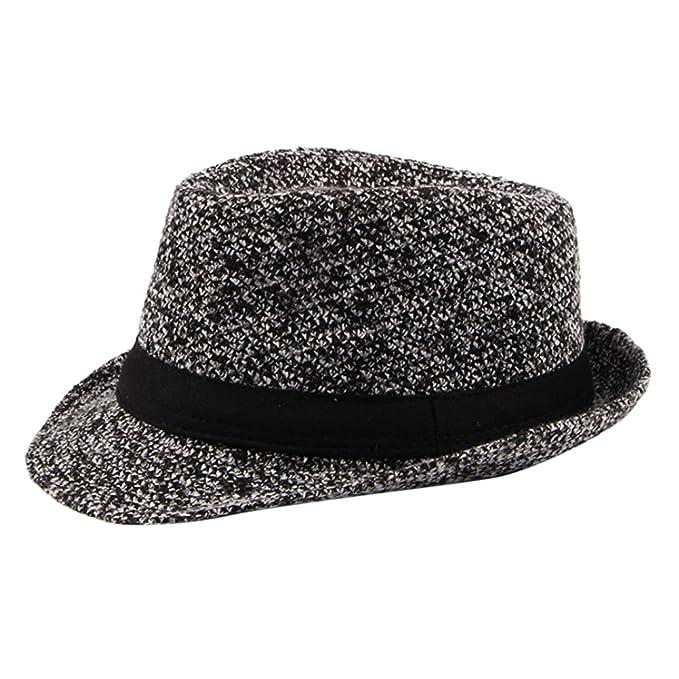 075c99998a2 Zhhlaixing Classic Autumn Winter Woolen Jazz Kappe Fashion Mens Gentleman Casual  Fedora Hats Wide Brim