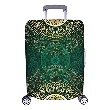 Vintage Mandala Floral Swirls Travelers Choice Travel Equipaje con Ruedas giratorias Maleta de Equipaje de 20