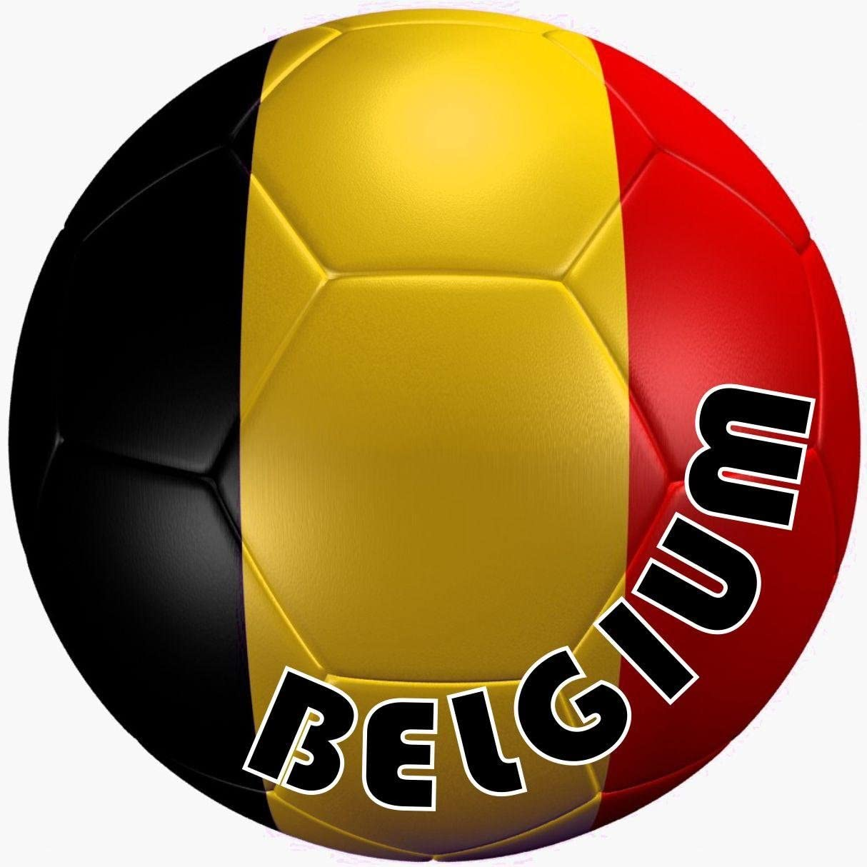 Akachafactory autocolant Sticker Equipe Voiture Moto Football Drapeau Ballon Foot Belgique