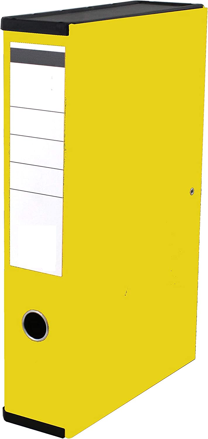 Yellow Very Strong Premium Quality Linen Box Files A4 Foolscap