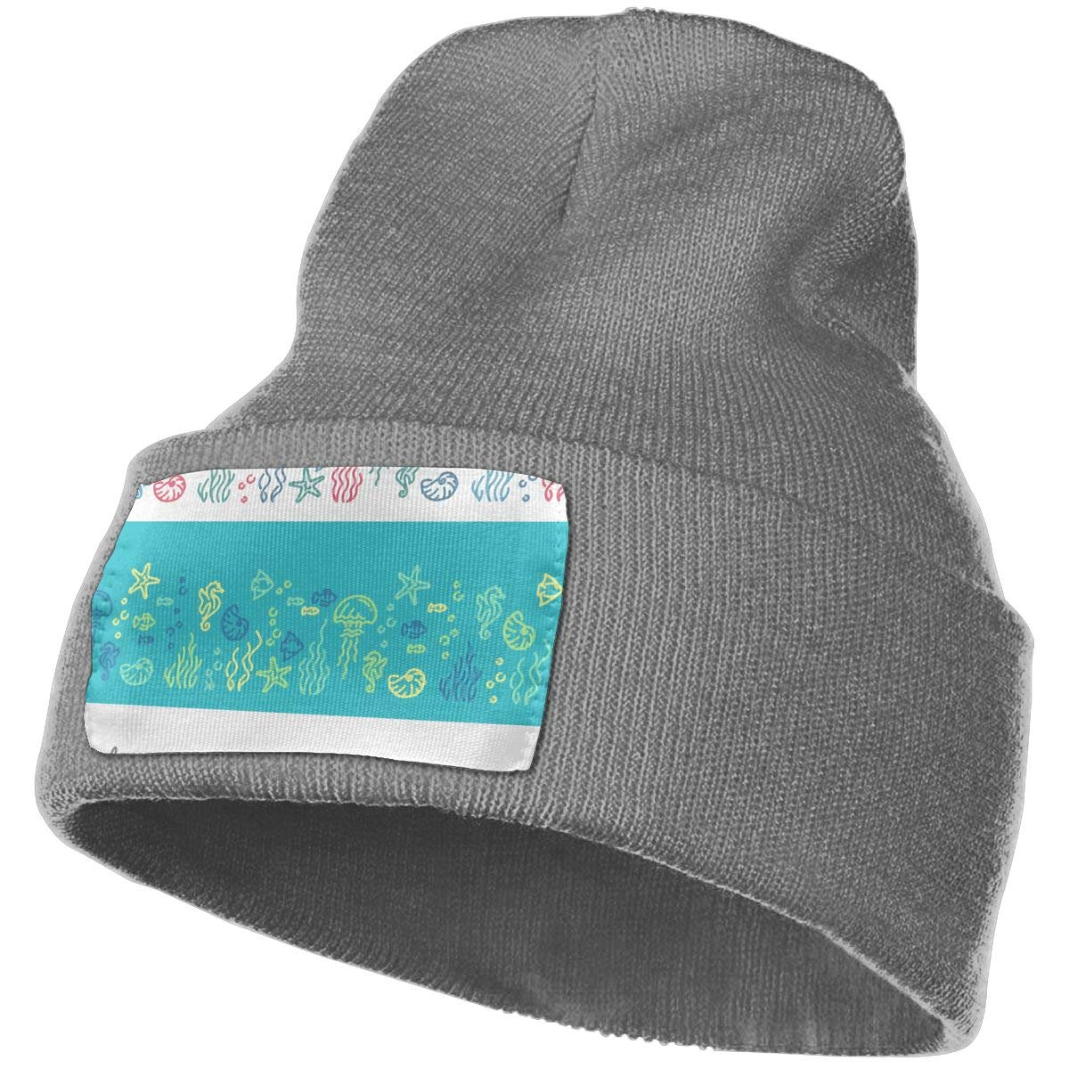 TAOMAP89 Line Marine Life Men /& Women Skull Caps Winter Warm Stretchy Knit Beanie Hats