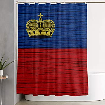 Amazon Com Flag Of Liechtenstein Wooden Texture Bathroom Shower