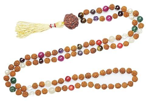 Mogul interior cuentas de Chakra collar Japamala 108 ...