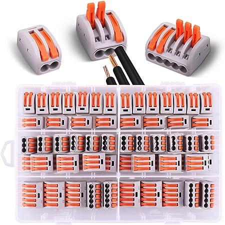 10 pinces 5 voies. 20 pinces 2 voies 30 pinces 3 voies 60 connecteurs /électriques avec levier de fonctionnement