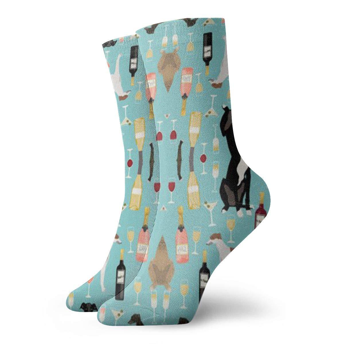 Jokerbilibili Greyhounds and Wine Unisex Print Athletic Quarter//Ankle Running Hiking Socks-Weekend Lounge Short Crew Socks