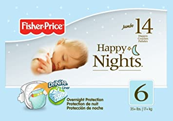 Fisher Price Overnight Diapers - Size 6 - 14 ct
