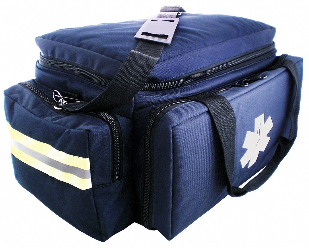 Trauma Bag, 7-1/2x10x17-1/2 in, Navy