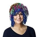Multi Color Tinsel Wig