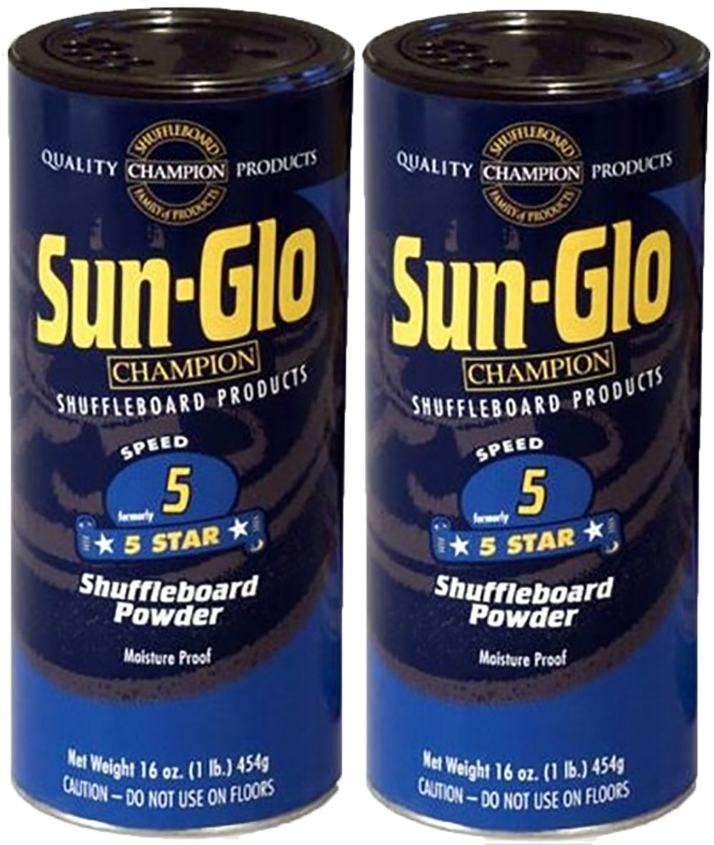 Twin Pack of Sun-Glo #5 Speed Shuffleboard Powder Wax by Sun-Glo