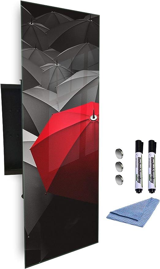 GlassArtist Caja para Llaves de 80 x 30 cm con Frontal de Cristal ...