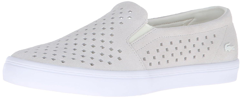 Lacoste Women's Gazon Slip On 216 1 Flat B01AHY2Y5M 8 B(M) US|Off White/White
