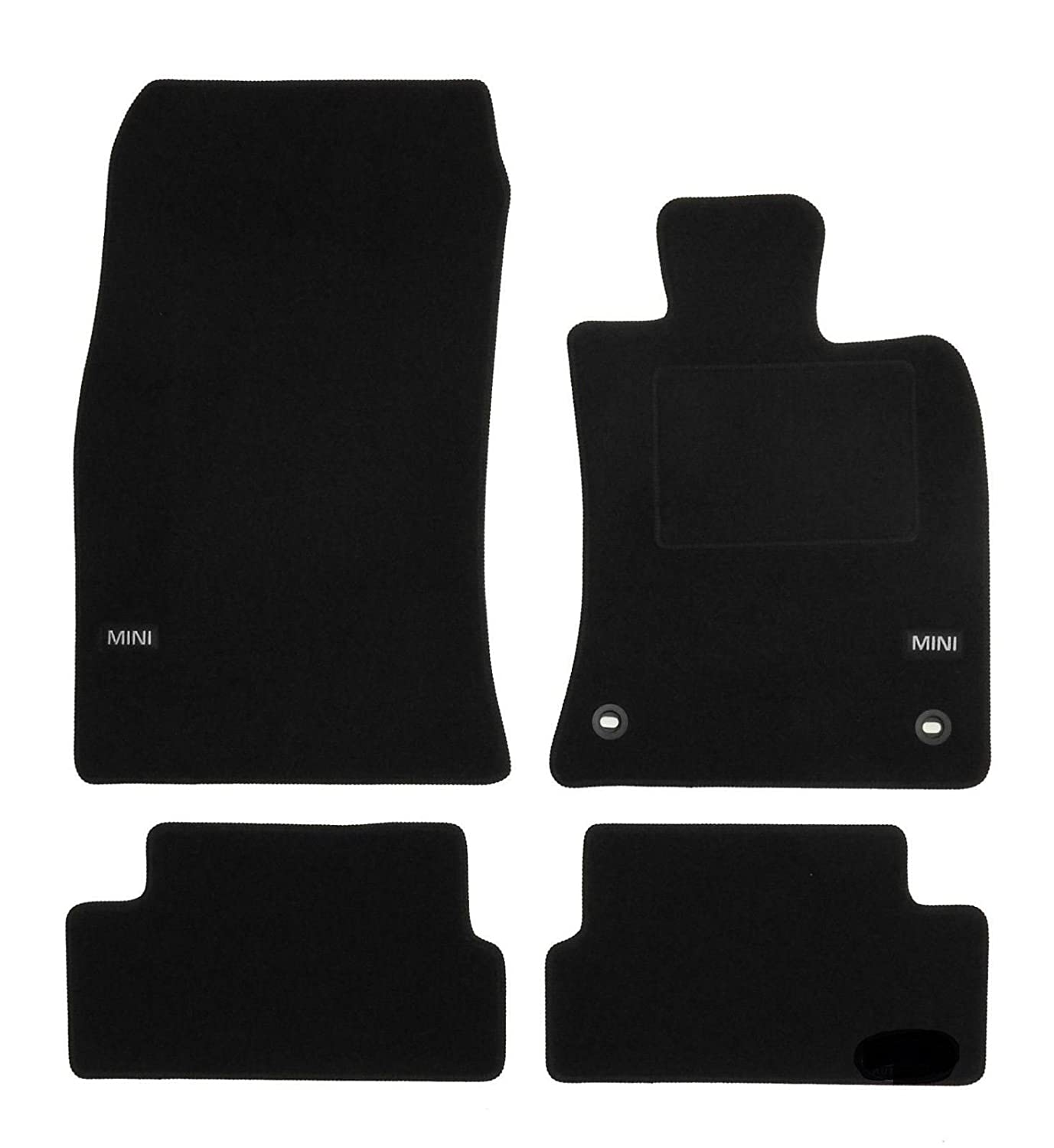 UKB4C Tailored Logo Velour Carpet Floor Mats for Mini Cooper R56 2006-2013 4PCS