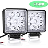 LED Work Light, AMBOTHER 2PCS LED Driving Fog Lights Off Road Working Light Headlight Backup Reverse Lamp 9 LED 27W