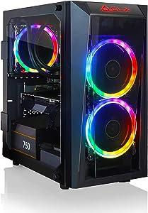 CLX Set VR-Ready Gaming Desktop - Liquid Cooled Intel Core i7 10700 2.9Ghz 8-Core Processor, 16GB DDR4 Memory, GeForce RTX 3070 8GB GDDR6 Graphics, 240GB SSD, 2TB HDD, WiFi, Windows 10 Home 64-bit