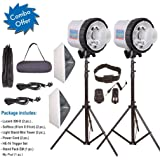 Harison Lucent 300-D Double Kit with Carry Bags/Wedding Photography/Wireless Radio Flash Trigger 2.4 GHz Long Range 100 mts/Professional Studio Kit