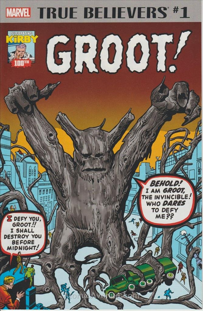 True Believers: Kirby 100th—Groot #1 VF/NM ; Marvel comic book