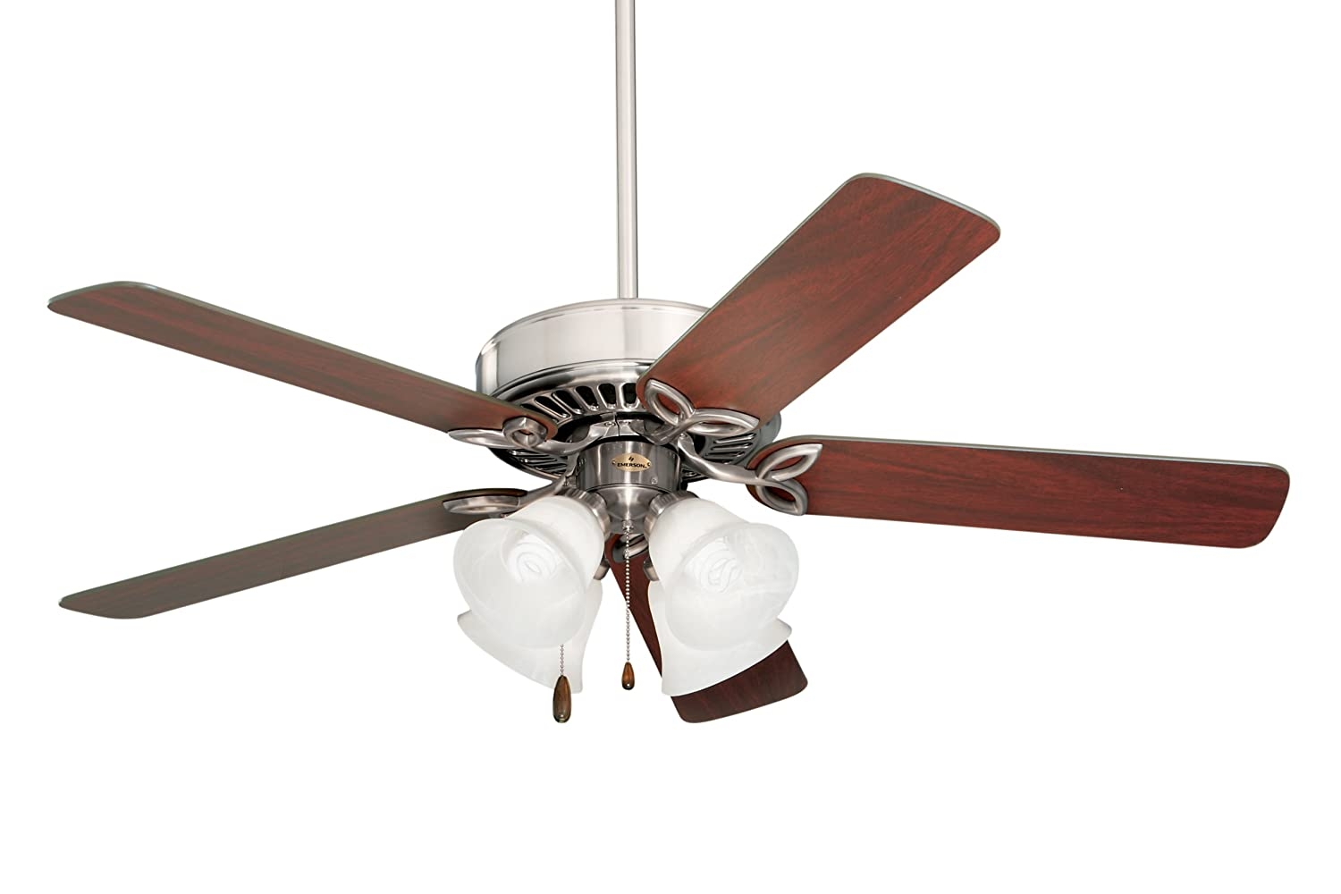 Amazon emerson ceiling fans cf710bs pro series ii low profile amazon emerson ceiling fans cf710bs pro series ii low profile hugger ceiling fan with light 42 inch blades brushed steel finish home improvement aloadofball Image collections