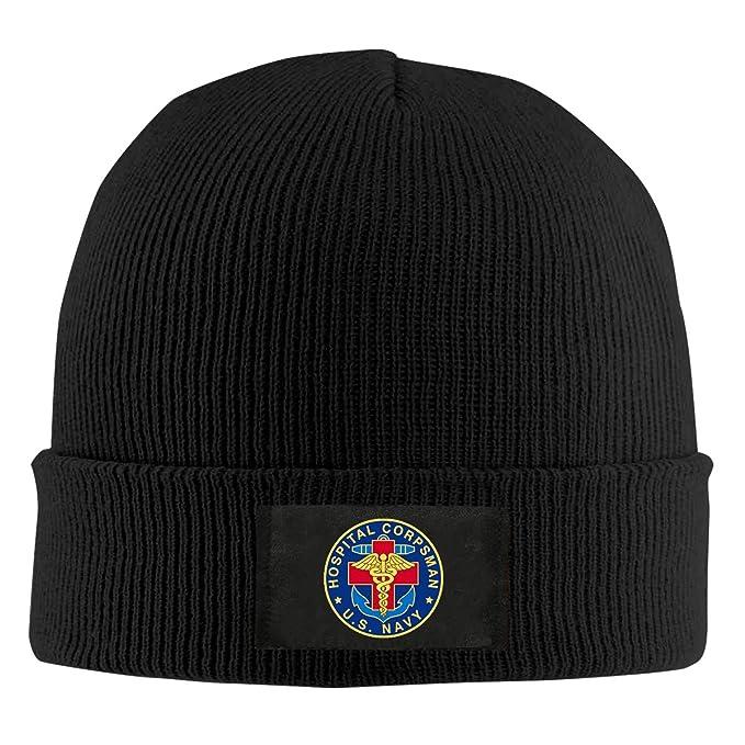 77be5dc1cf0b77 Amazon.com: IHJK Jkkk Unisex US Navy Hospital Corpsman Skull Hats Knit Cap  Winter Warm Cap Beanie Hats: Clothing