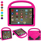 "New iPad 9.7 Inch 2017 / iPad Air 2 / iPad Air Case, Ubearkk Kids Friendly Light Weight Shock Proof Convertible Handle Stand Cover for Apple New iPad 9.7"" 2017 Model, iPad Air 2, iPad Air (Pink)"