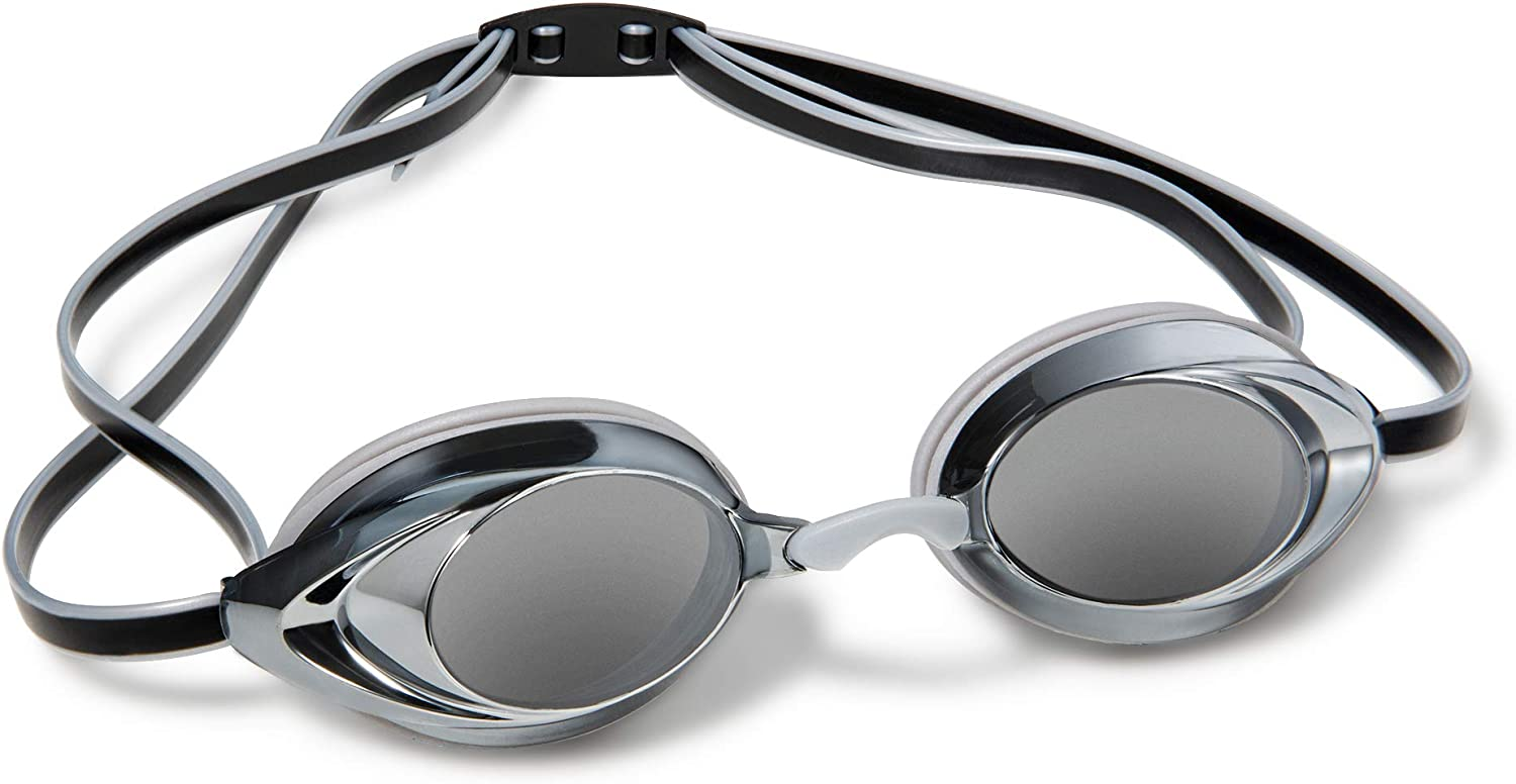Anti-Fog Racing Goggles Nabevin Swim Goggles for Men and Women Mirrored Vanquisher Swim Goggles